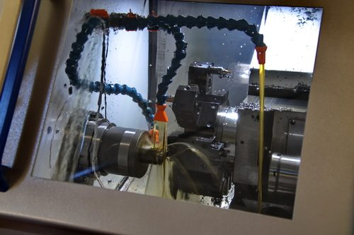 Machining on a numerical control lathe  - Precision metal turnery